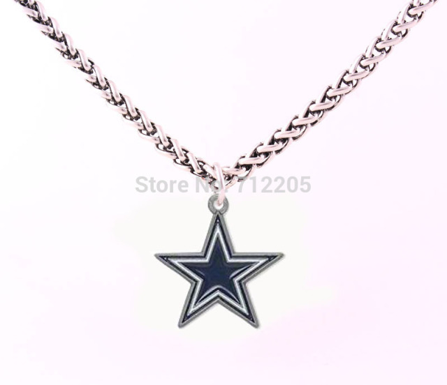 Dallas cowboys enamel chain necklace 10pcs a lot wheat link bracelet dallas cowboys enamel chain necklace 10pcs a lot wheat link bracelet chain with large clasp football aloadofball