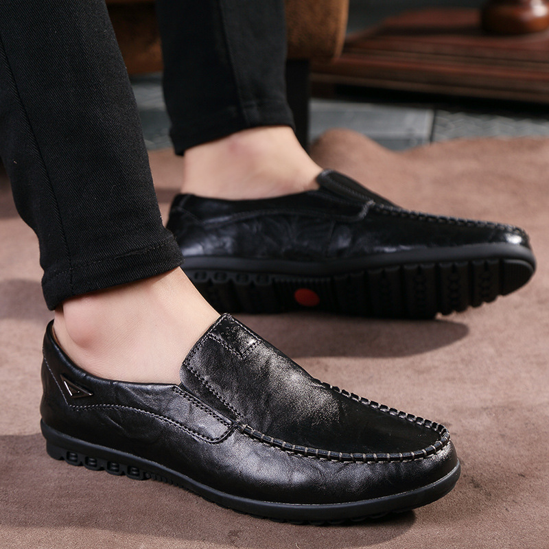 Genuine Leather Men Casual Shoes Loafers Flats Sneaker Mans Footwear Zapatos Hombre Slip On Summer Driving Soft Male Shoe AET612