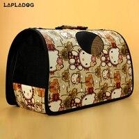 Marca Pet cane zaino porta cane gatto borsa da viaggio pieghevole dog carriers per cani di piccola taglia plaid rimovibile pet carrier bag ZL389