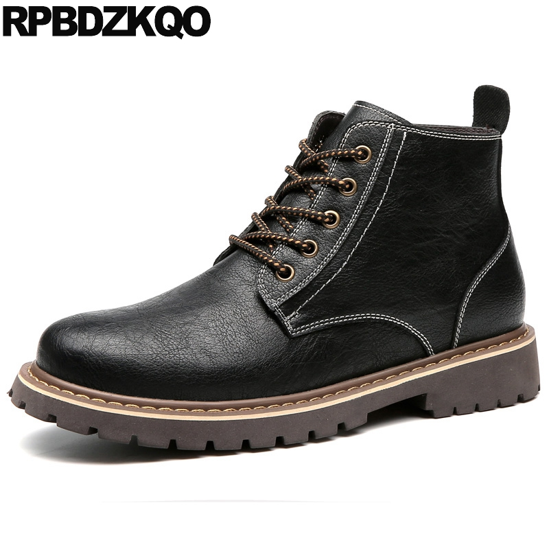 Male Booties Mens Winter Boots Warm Combat Army Safety Flat Shoes Fall Black Military Work Platform Lace Up Ankle Short Fashion mens winter boots warm military mid calf durable army 2017 fashion combat motorcycle high top shoes lace up autumn black male