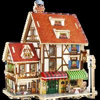 Multi Type 3D Building Jigsaw Puzzle Toy Wooden House Castle Building Puzzle Toy Children S Educational