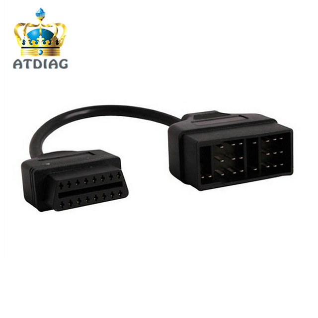 For Toyeta 22Pin to OBDII 16Pin Female Connector Adapter Cable DLC Lead 22 Pin Female to OBD2 16 Pin Free Ship