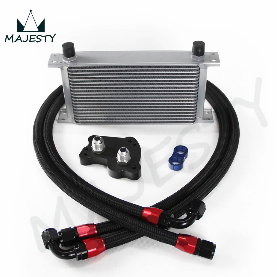 19 row engine oil cooler kit for bmw mini cooper s supercharger r53 19 row silver in engine from. Black Bedroom Furniture Sets. Home Design Ideas