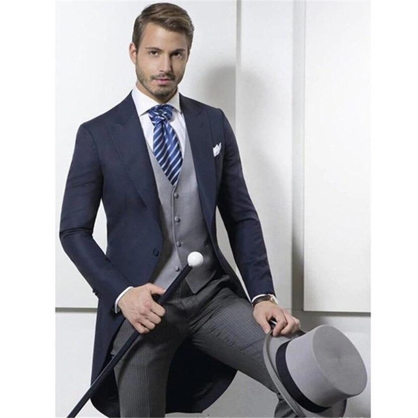 Style Abbigliamento Abiti Sposo jacket Di Frac Smoking Pantaloni 4 Vest  Promenade Disegno 2019 And 1 ... bbdb7cf4c2c