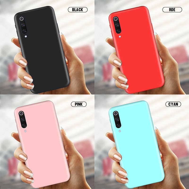Candy Color Silicone Case For Huawei Y7 Y6 Y9 2019 P Smart Z P30 P20 Lite Pro Mate 20 Nova 5 5i Honor 20 10i 20i 9X 8C 8X Cover