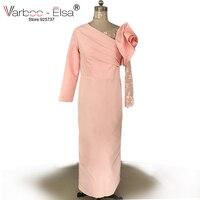 Varboo_elsa 2018 с длинными рукавами розовый атлас вечернее платье Винтаж платье для выпускного вечера оболочка Арабский Вечерние платья Платья д