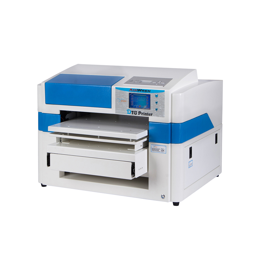 New Condition And Flatbed Printer Plate Type 407mmx600mm Haiwn-T600 Cheap Direct To Garment Printer