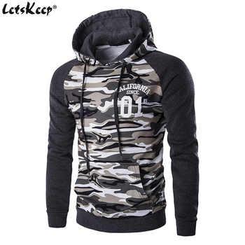 Nuevo Letskeep para hombre camuflaje pullover hoodies casual Delgado sudaderas con capucha hombres hip hop bolsillo camo Sudadera con capucha chándal, MA226