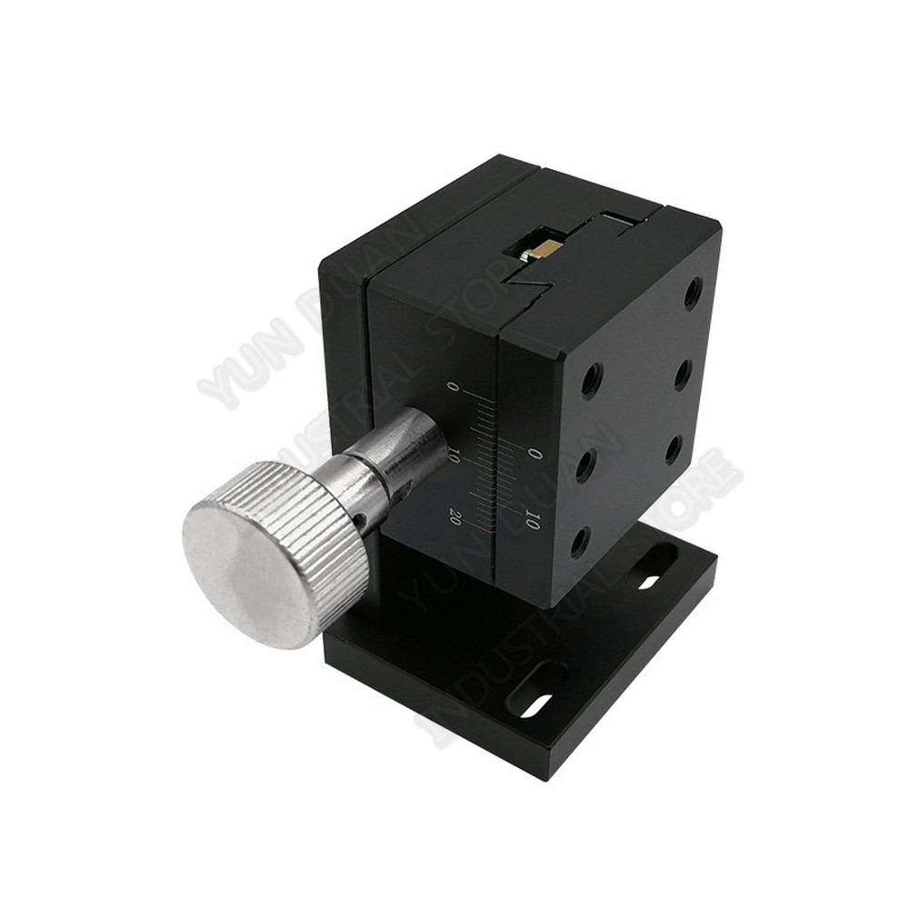 Z Axis 40*40MM 3kgf load Lift Manual Precision adjustment Fine Tuning platform Lab Optical Sliding lifting Dovetail Groove Guide