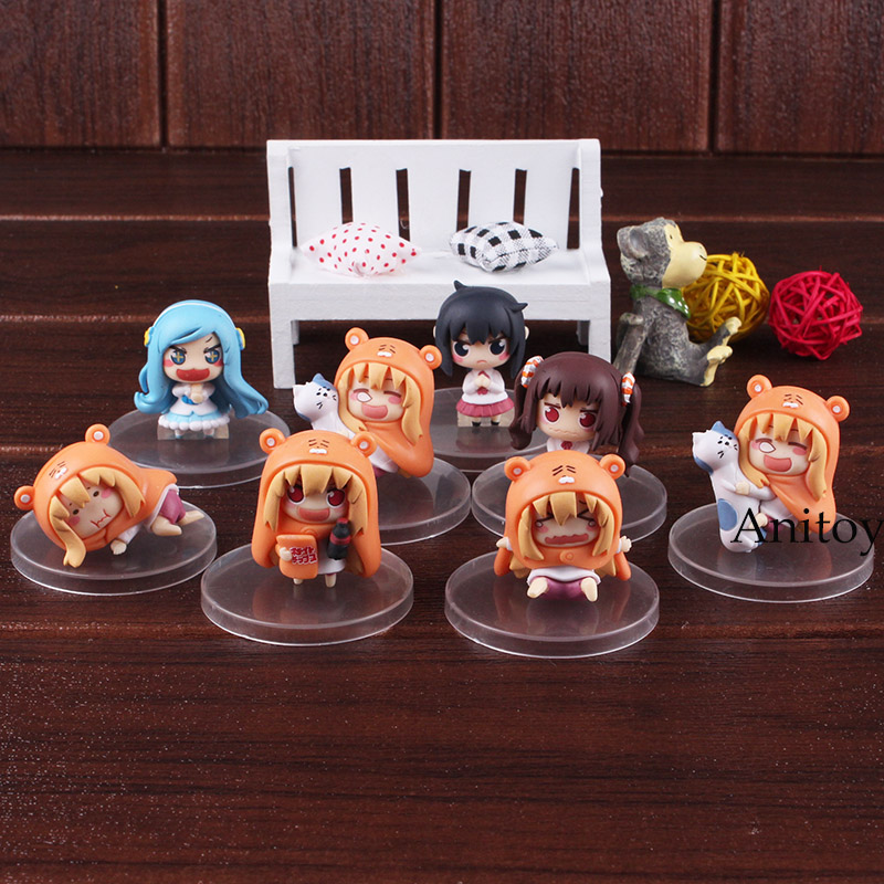 Himouto Umaru-chan himouto umaru chan figure doma umaru doll PVC Action Figure Set Collectible Modle Toys anime himouto umaru chan doma umaru student portable pu stationery pouch pencil bag cosmetic case