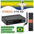 Venda quente receptor de satélite gtmedia v7s hd suporte receptor europa cline para espanha brasil DVB-S2 satélite decodificador freesat v7 hd