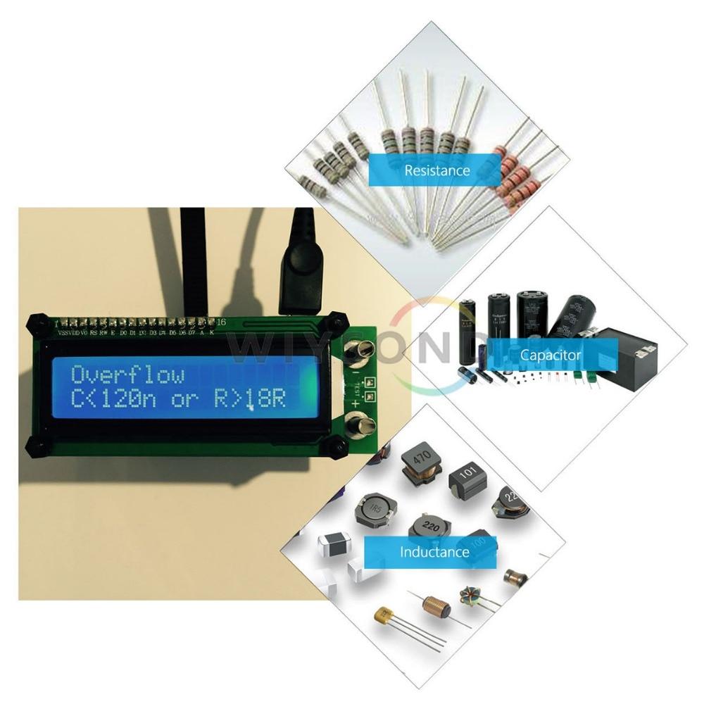 M069 Aimometer ESR01 Auto Range Digital LCR Tester Resistance Capacitance Inductance Measurement Capacitor ESR Meter USB power