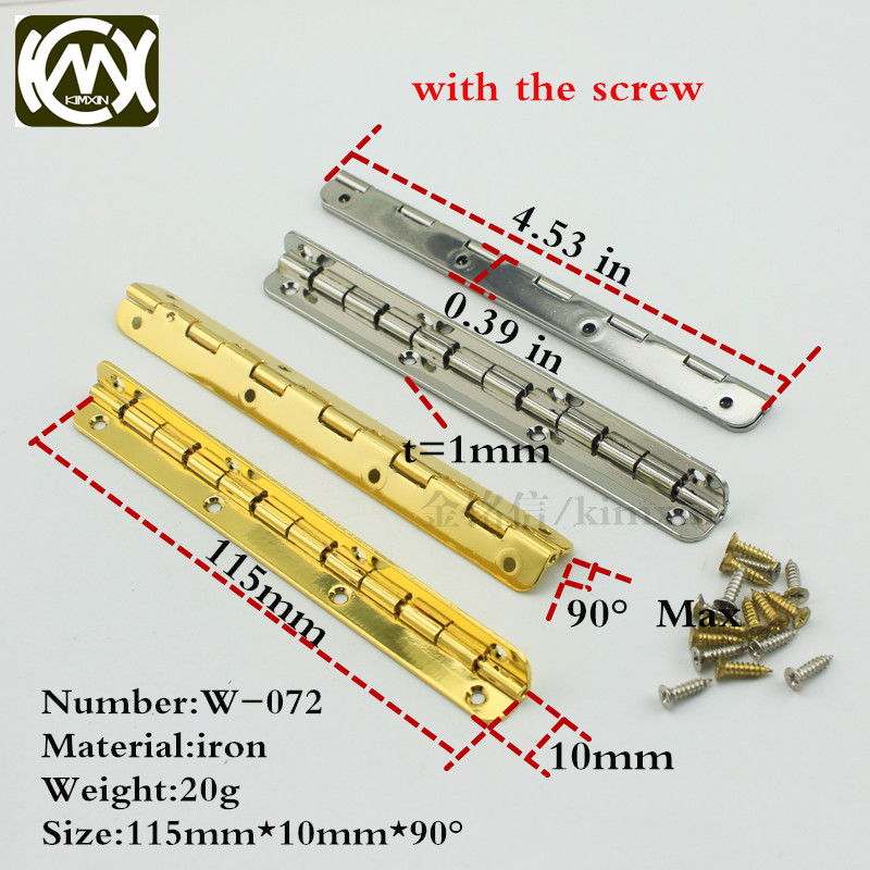 10pc 10*115mm in stock Wooden box hardware metal hinge Furniture and cabinet hardware Hinges for kitchen cabinets KIMXIN W-072 kj3241x1 ba1 new in box 12 months warranty in stock