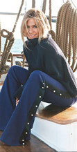 夏の女性の黒ロングパンツ AEL 2018 ファッションエレガンスファム服ハイト品質フレアズボン