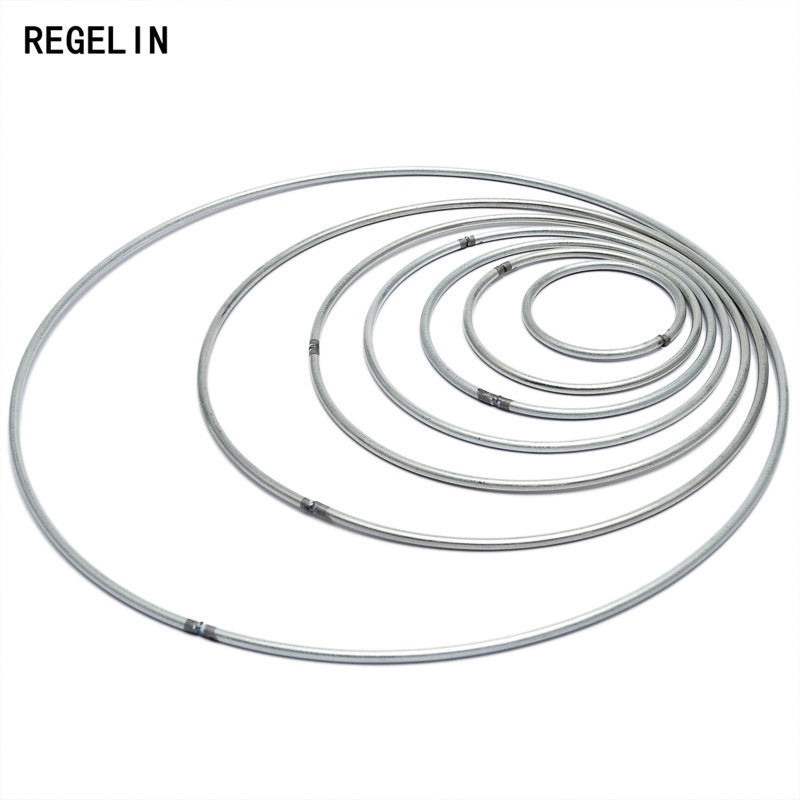 REGELIN Dream Catcher Reve Circle Rings Findings Hanging Round Cercle Metal Pour Attrape Reve Net Jewelry DIY 10pcs 35-200mm