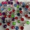 Hl 40 pcs color mix rodada acrílico botões de vestuário costura suprimentos acessórios de vestuário diy artesanato a730