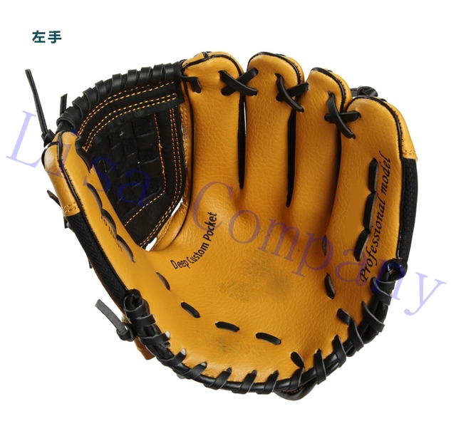 brown colour children left and right hand high quality baseball glove non-slip super soft wear-resisting 1