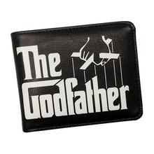 Nova chegada o padrinho homem carteira filme o padrinho carteiras curtas com titular do cartão dólar preço