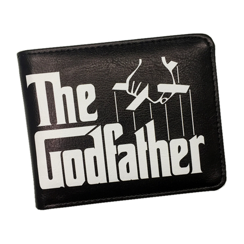 New Arrival The Godfather Men Wallet Movie THE GODFATHER Short Wallets With Card Holder Dollar Price hot sale 2015 harrms famous brand men s leather wallet with credit card holder in dollar price and free shipping