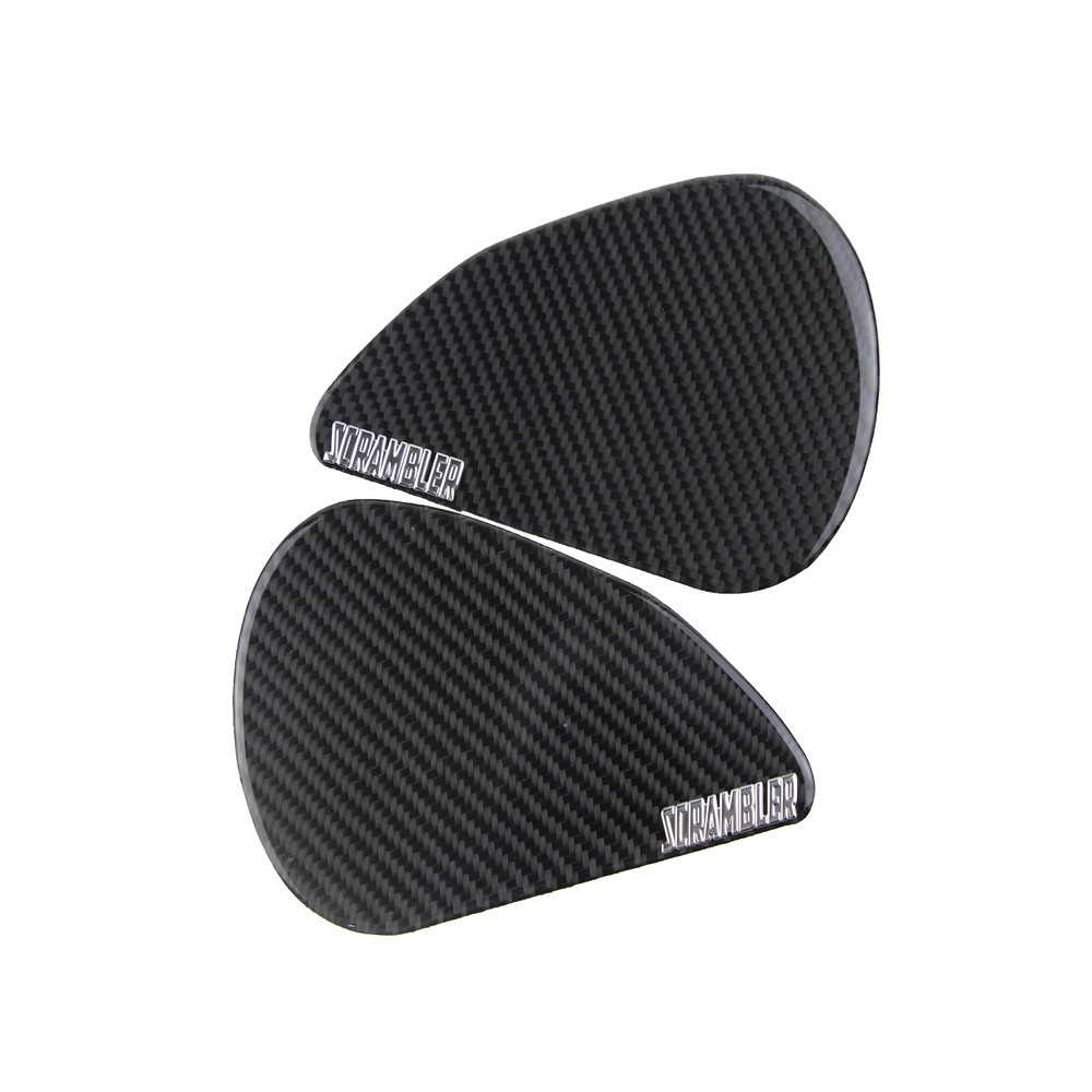 KODASKIN Motorcycle Real Carbon Fiber Tank Gas Cap Pad Filler Cover Tankpad Tankgrip Sticker Decals Fit for DUCATI SCRAMBLER in Decals Stickers from Automobiles Motorcycles