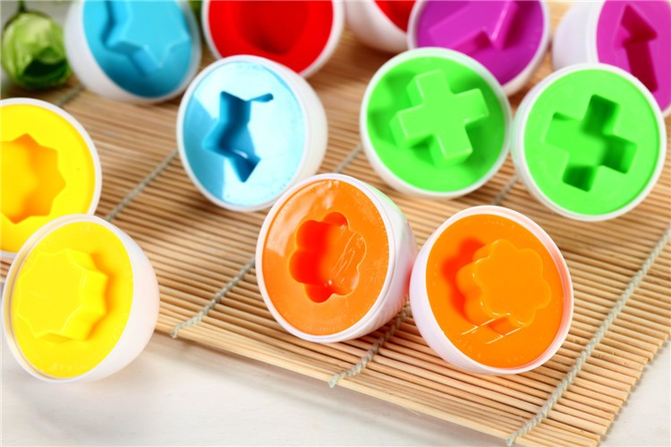 Pairings Smart Egg Capsule Study Color Children Blocks 6x Educational Toys Baby Intelligent Blocks Toy Gifts