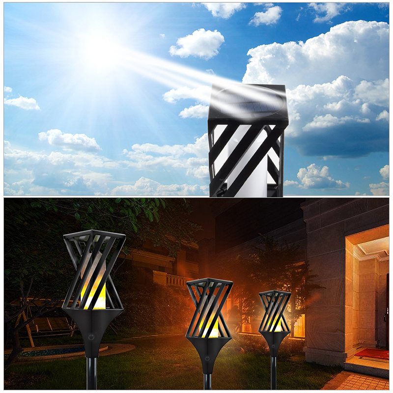 Outdoor Garden Yard Lawn Driveway Decorative Lamp Solar Garden Torch Lights 96 LED Waterproof Flame Lighting Landscape Lamp hot sale led garden lamp bulb 5w landscape lighting waterproof outdoor lawn yard flood light us eu uk plug