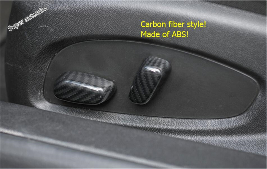 For Chevrolet Camaro 2016 2017 ABS More Fashion Seat Backrest Adjustment Button Switch Cover Trim 4 Pcs / Set