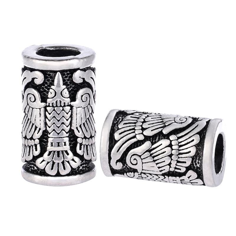 1pc Vikings Eagle Bird Beads  For Bracelets For Pendant Necklace DIY For Beard Hair Beads C83 C84