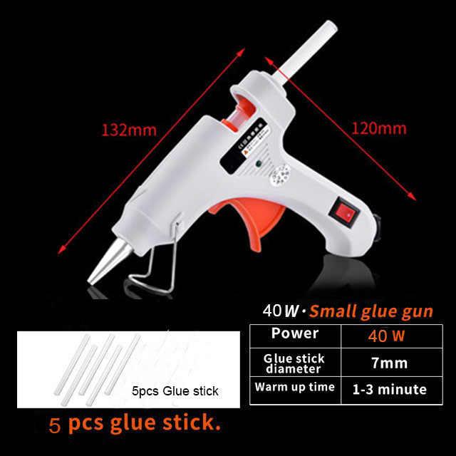 40W 110V-240V hot Melt Glue Gun With 7MM*100MM Glue Sticks DIY Thermo Mini Adhesive Glue gun Repair Heat Tools