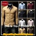 Оптовые Смешанные цветы и размеры Скрытый placket Slim fit М-XXXXL длинным рукавом квадратный воротник рубашки для мужчин QR-6004