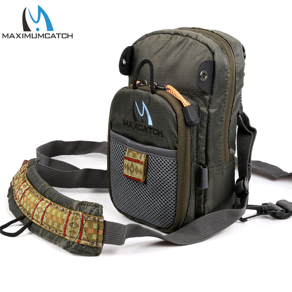 Maximumcatch New Arrival Fly Fishing Bag 2 Layer Fishing Chest Pack Fly Bag maximumcatch fishing sling back pack outdoorsport fly fishing sling bag with fly patch