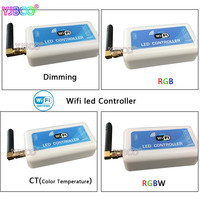 LED WIFI Controller 2 3 4 Zone DC12V 24V Dimming Color Temperature RGB RGBW Led Controller