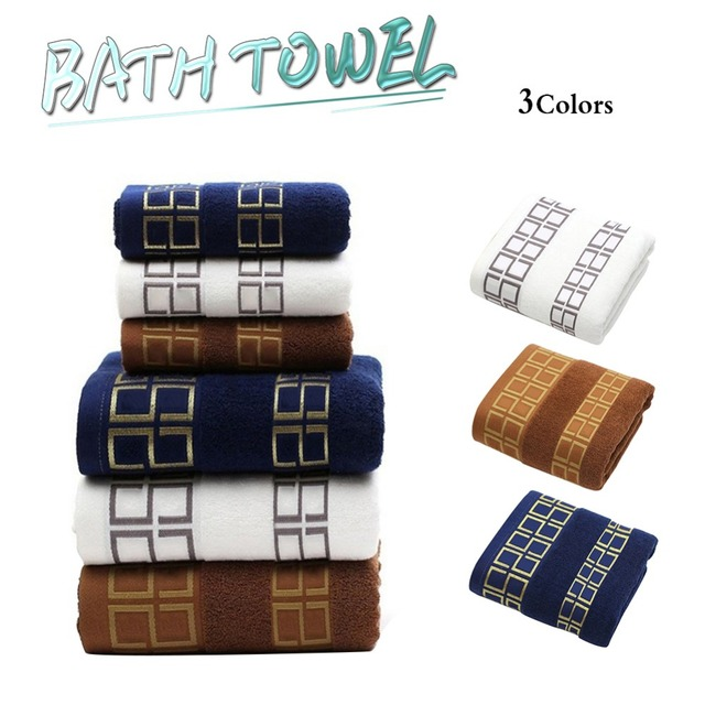 2pcs Face Towel+1pc Bath Towel 100% Cotton Soft Absorbent Adult Household Towel Travel Gym Sport Camping Swimming Pool Quick Dry