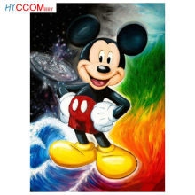 FAI DA TE Diamante Pittura Disney Mickey mouse Piazza piena di Strass Punto Croce Kit di Diamante Del Ricamo Mosaico Needlework Artigianato(China)