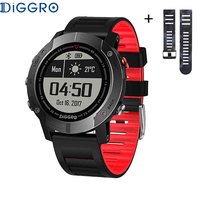 Diggro DI08 GPS 30meter IP68 Waterproof Smart Watch Outdoor Tracker Remote Control Backlight Heart Rate Monitor