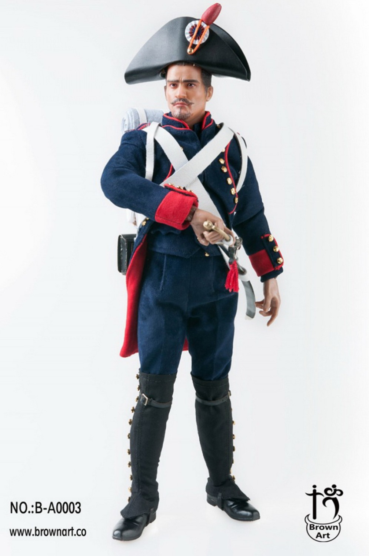 "Brown Art 1//6 Scale Napoleon Series Field Artillery Shirt For 12/"" Figure"