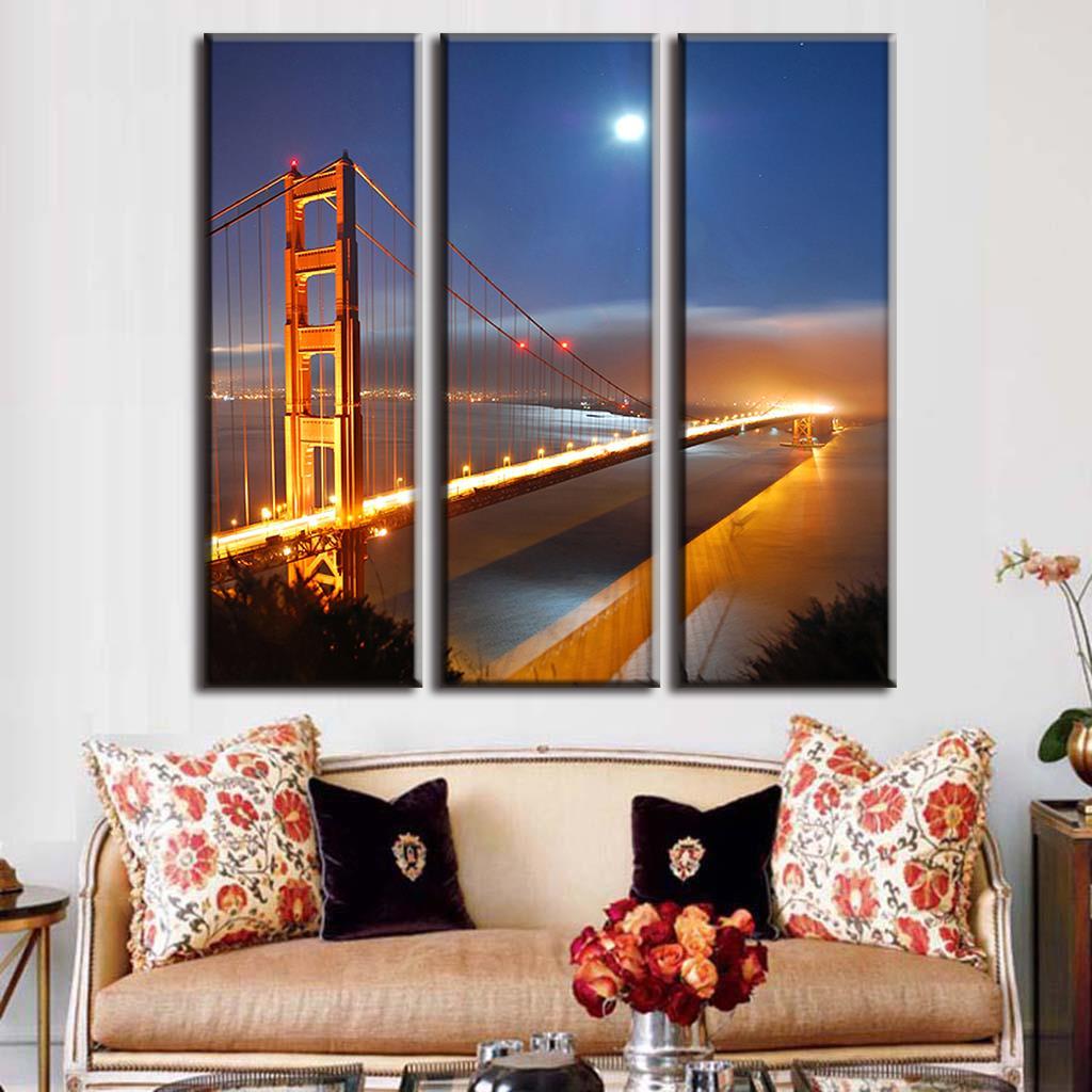 Golden Gate Bridge Leinwand. Bild Auf Leinwand Golden Gate Bridge ...