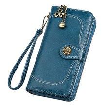 Новинка, женский кошелек, Ретро стиль, одноцветная, на молнии, сумочка, длинная, стильная, для телефона, сумка, кошелек, для карт, кошелек для девушек, кошелек, portemonee vrouwen# Y35