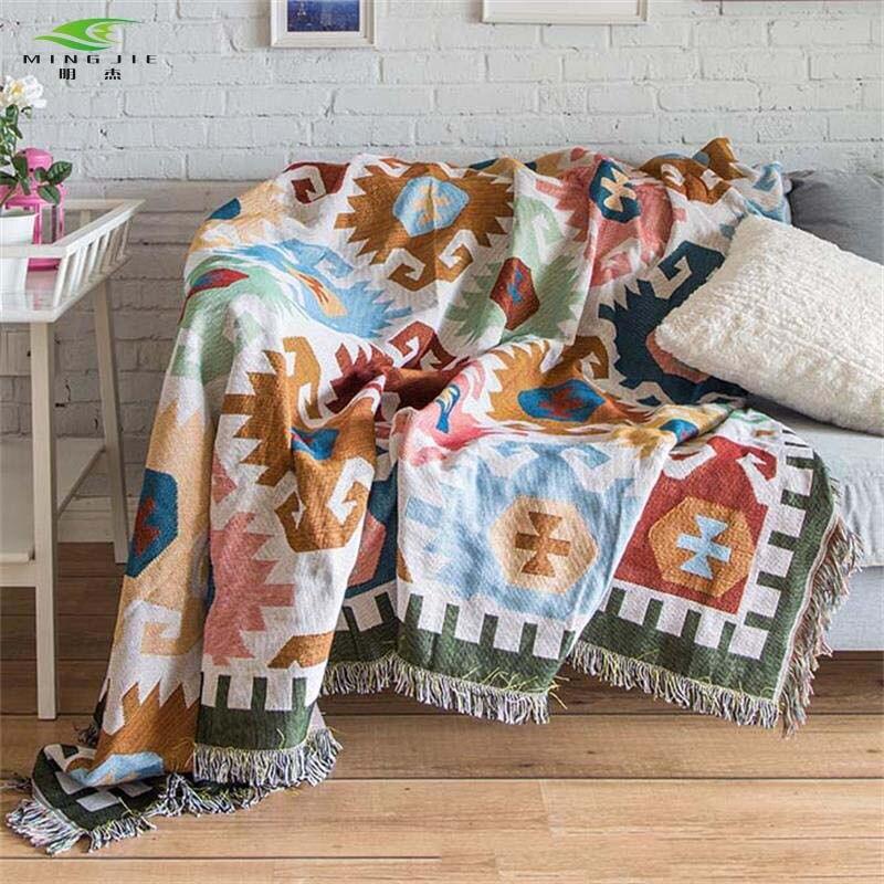Lana Tissé 100/% coton Throw Blanket avec frange-Assortiment Couleurs