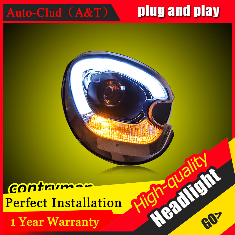 Auto Clud Car Styling For BMW MINI Countryman R60 headlights For R60 head lamp led DRL front Bi-Xenon Lens Double Beam HID KIT car styling for chevrolet trax led headlights for trax head lamp angel eye led front light bi xenon lens xenon hid kit