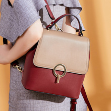 цены на Fashion Split Leather Backpack Waterproof Small Backpack Women Shoulder Bag Backpacks For Teenage Girls School Bags  в интернет-магазинах