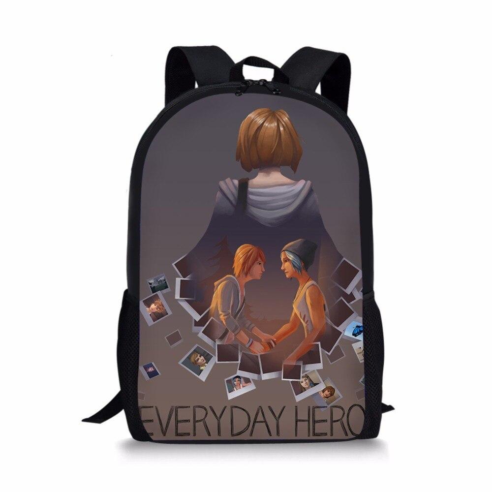 life is strange school book bag orthopedic backpacks schoolbag satchel for boys girls teenager students mochila escolar 2018