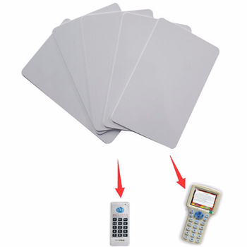 Free Shipping 50pcs/lot UID Card 13.56MHz Rfid PVC Thin Uid Changeable block 0 writable Card(1K) 5pcs lot uid changeable ic tag keyfob for s50 1k 13 56mhz writable 0 zero hf iso14443a chinese magic backdoor command