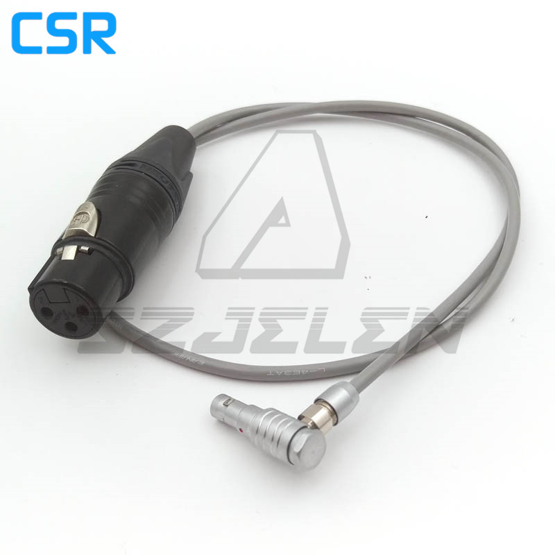 Connector 00 5 pin plug to XLR Connector 3 pin Female FOR ARRI ALEXA mini camera audio cable, 60CM 565854 1 8m cable with heavy duty alligator clips wired to female sae 2 pin connector for leica 5 pin