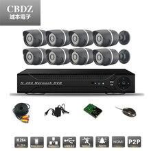 Eight CCTV surveillance system eight coms 800TVL Digital camera DVR arduous disk energy wire CCTV digital camera