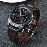 URVOI Band For Samsung Galaxy Gear S3 Strap Wrist Retro Genuine Leather Band With Closure Classic