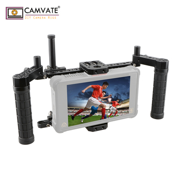 CAMVATE Monitor Cage Kit With Adjustable Handle Grips C1854 camera photography accessories - discount item  10% OFF Camera & Photo