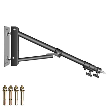 Neewer Triangle Wall Mounting Boom Arm for Photography Studio Video Strobe Lights Monolights Softboxes Umbrellas Reflectors
