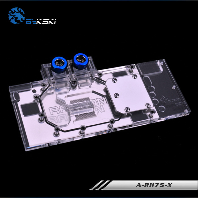 Bykski Full Cover Graphics Card Water Cooling Block use for Public Version ATI HD7950 A-RH75-X Cooler Block with RGB Light 4pin mgt8012yr w20 graphics card fan vga cooler for xfx gts250 gs 250x ydf5 gts260 video card cooling