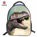 VIIGER Dinosaur Jurassic Park Waterproof School Bags Children Backpack Women Printing Backpacks for Teenage Girls Kids Boy